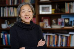 Wake Forest psychology professor Lisa Kiang poses in her Greene Hall office on Tuesday, March 20, 2018.